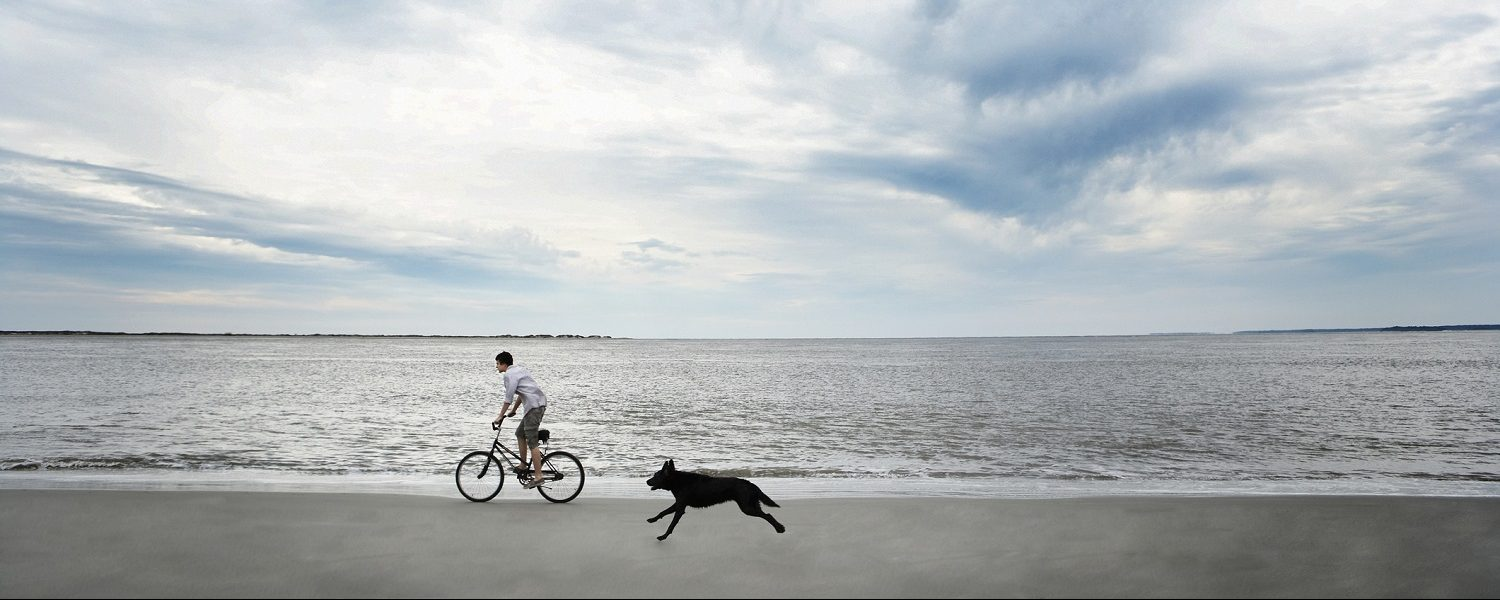 Biking on Seabrook Island