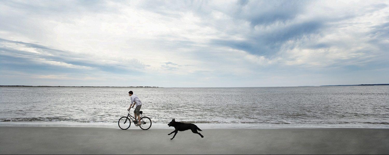 Biking on Seabrook Island