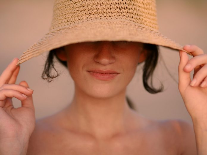 Woman in a Beach Hat
