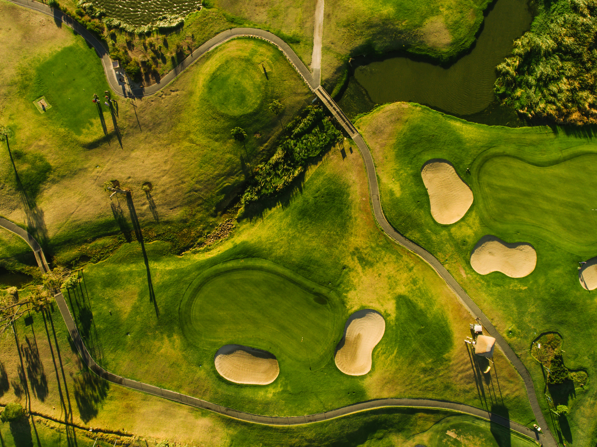 Aerial view of Kiawah Island golf course