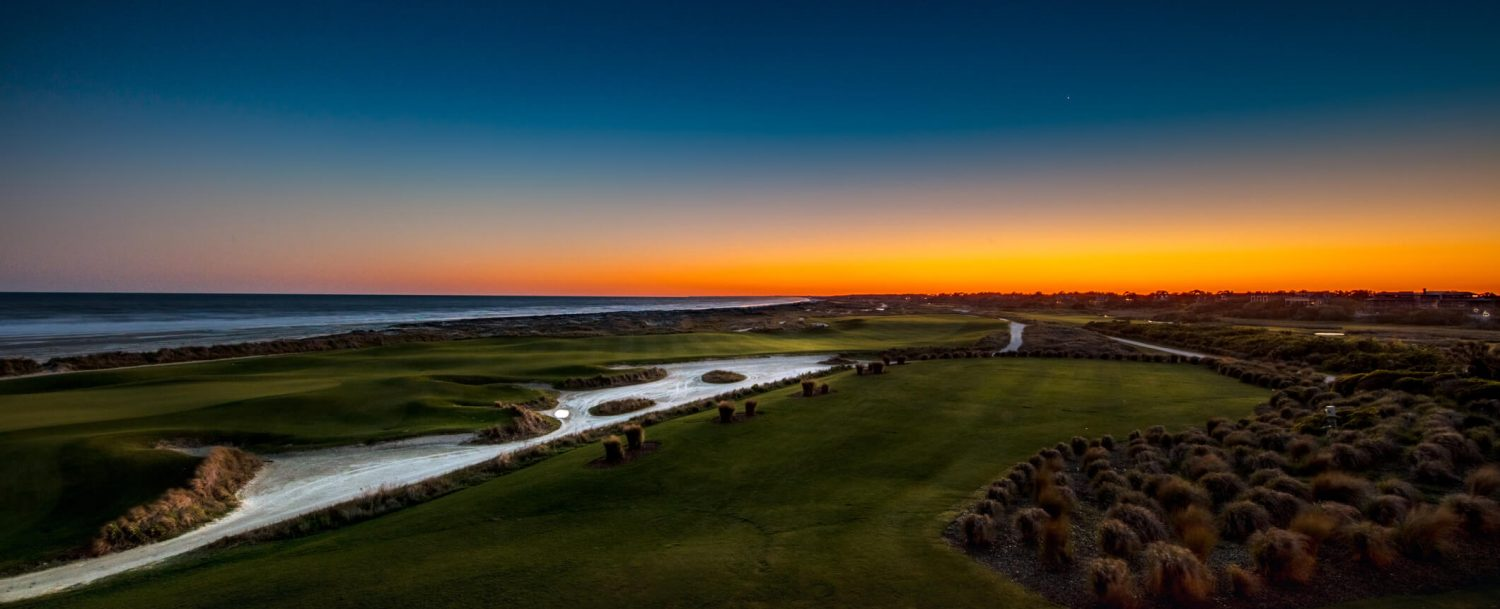 Amazing ocean-side view of Kiawah Island golf courses; one of the top filming locations for the Outer Banks Netflix show