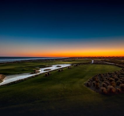 Amazing ocean-side view of Kiawah Island golf courses