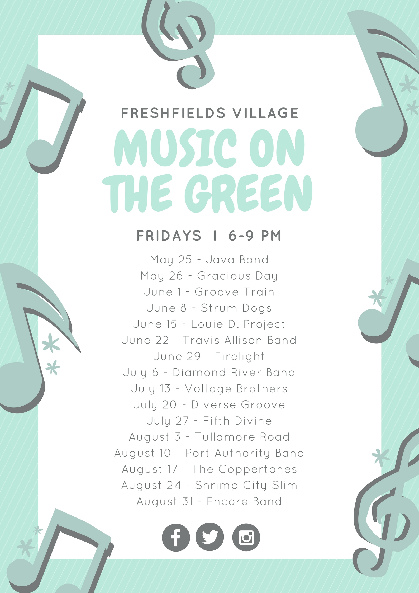MusicontheGreenSchedule