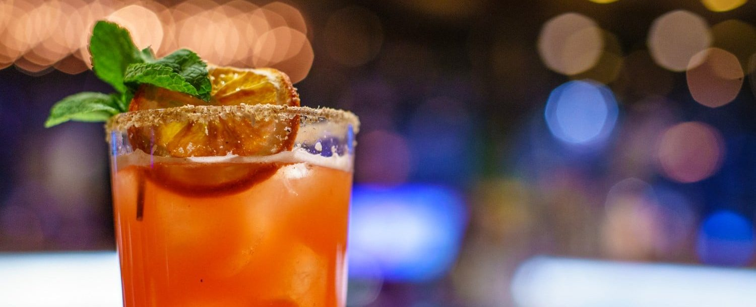 Picture of cocktail sitting on bar top