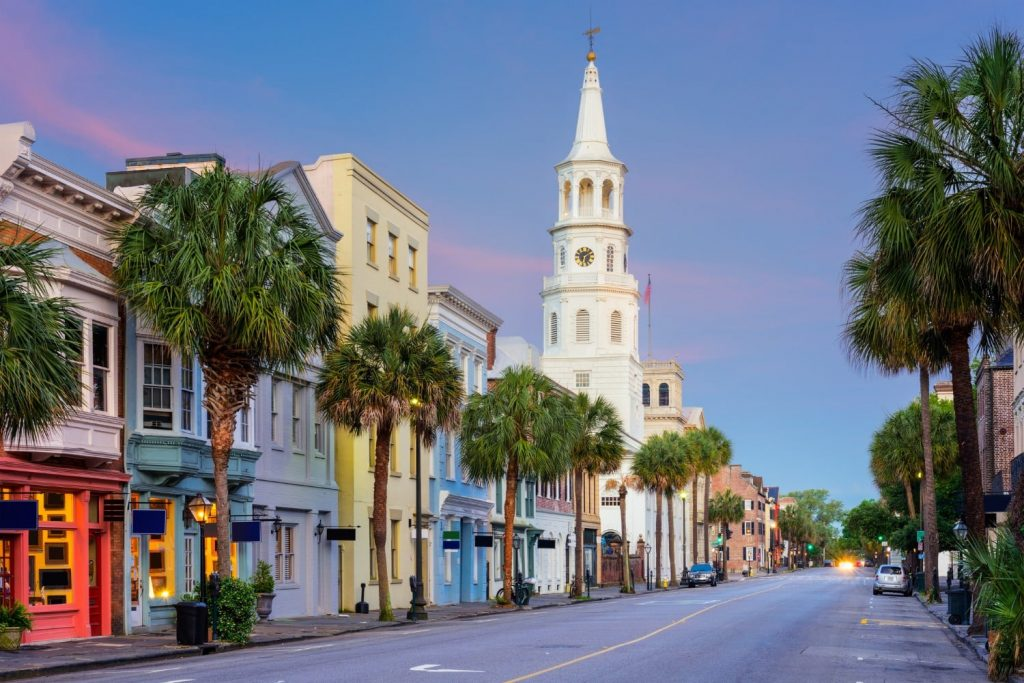 view of king street in charleston sc