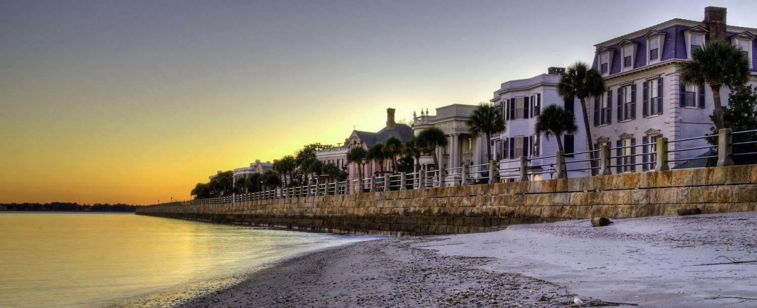 The Battery in Charleston, South Carolina at Twilight