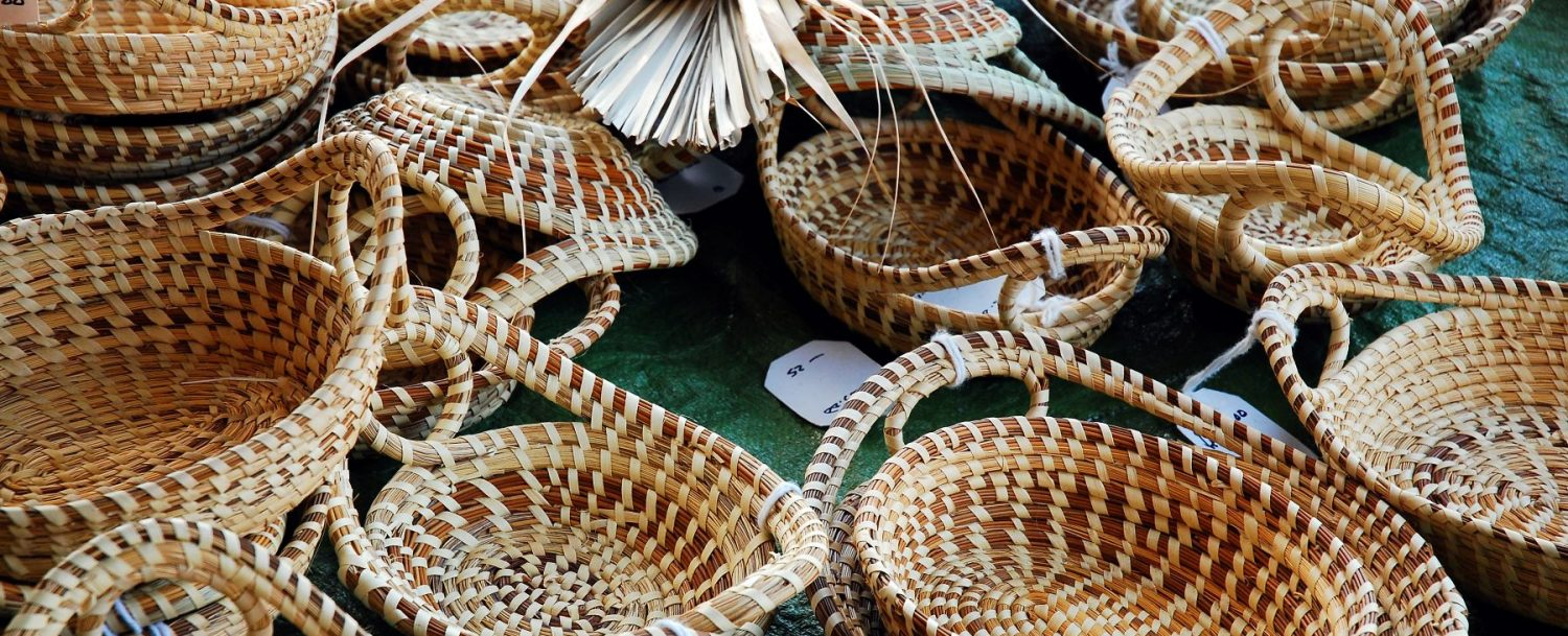 Charleston City Market Sweetgrass Baskets
