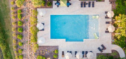 Andell Inn Pool Aerial