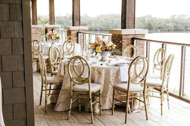 Reception tables.